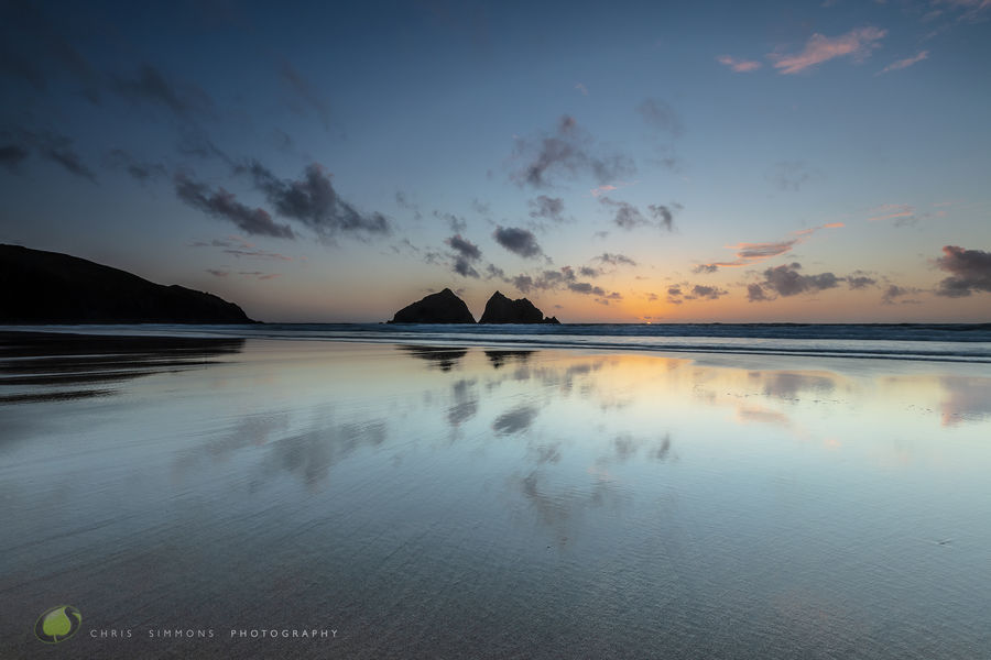 Gull Rocks Reflected Sky - rev
