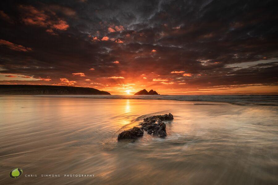 Gull Rocks Seared Tideline