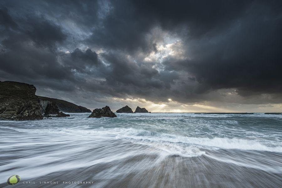 Gull Rocks Under Cloud - Rev
