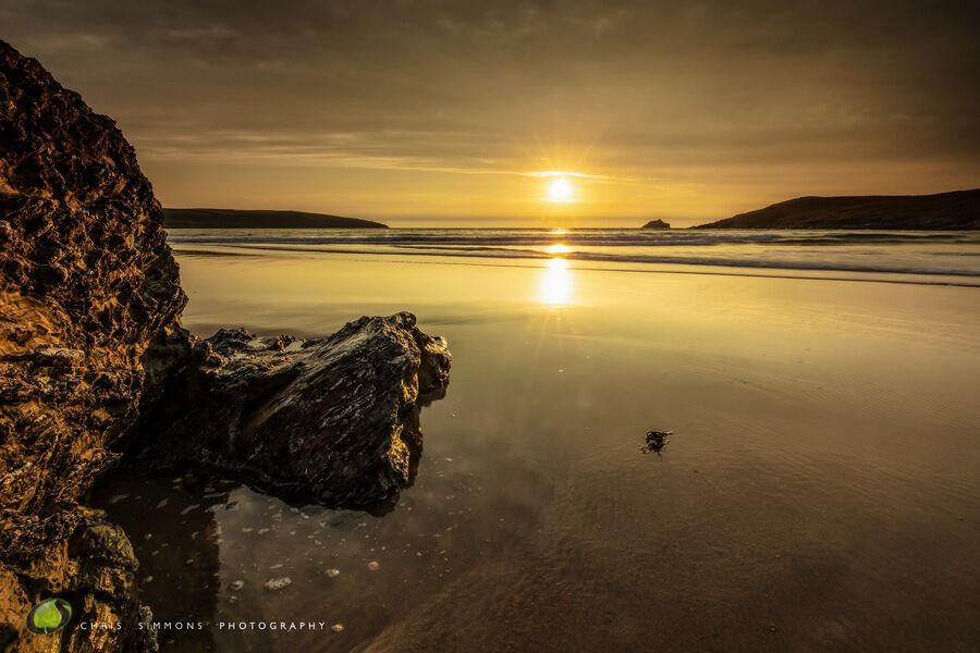 High Tide Sundown - Crantock III -Art