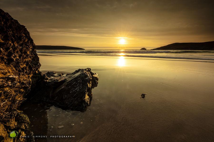 High Tide Sundown - Crantock III -rev