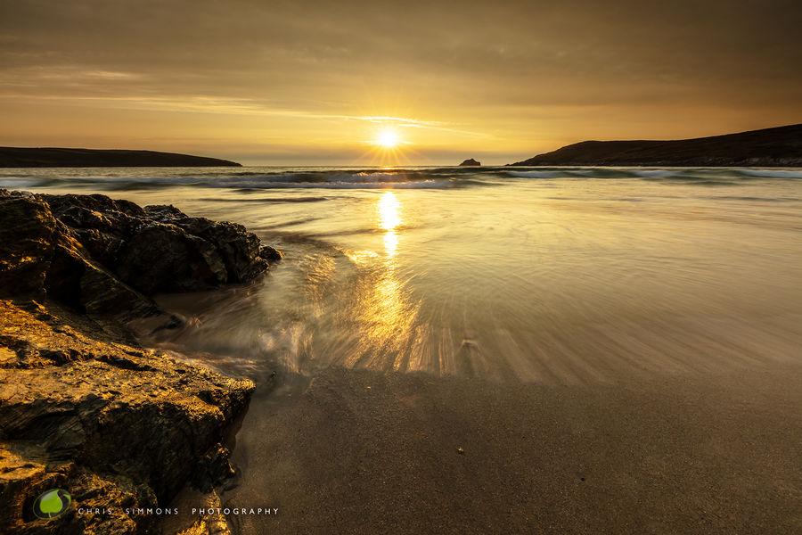 High Tide Sundown - Crantock - rev