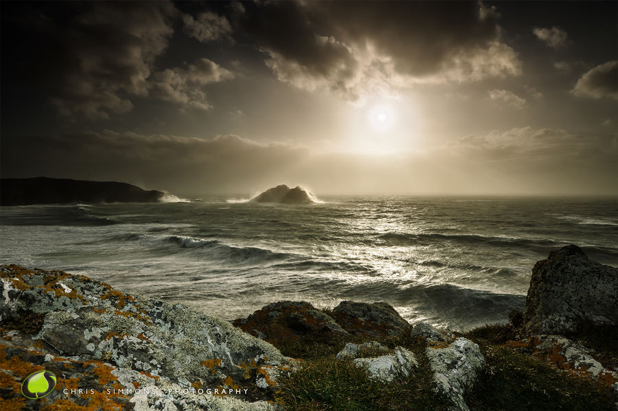 Holywell Bay, Storm Ophelia - rev