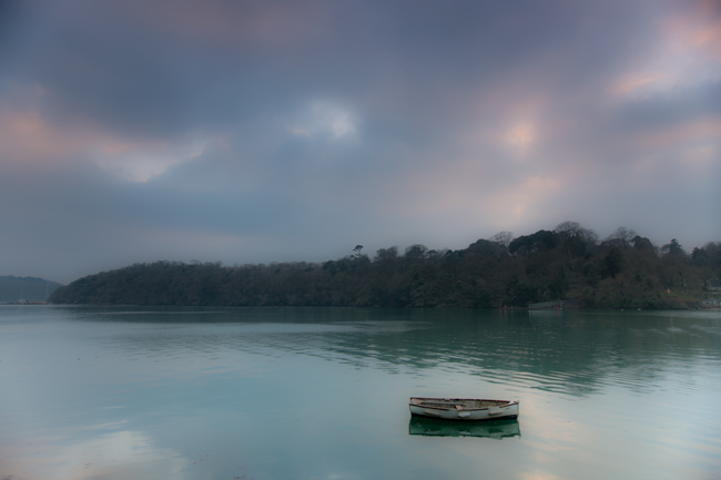 Evening by the King Harry Ferry, Cornwall
