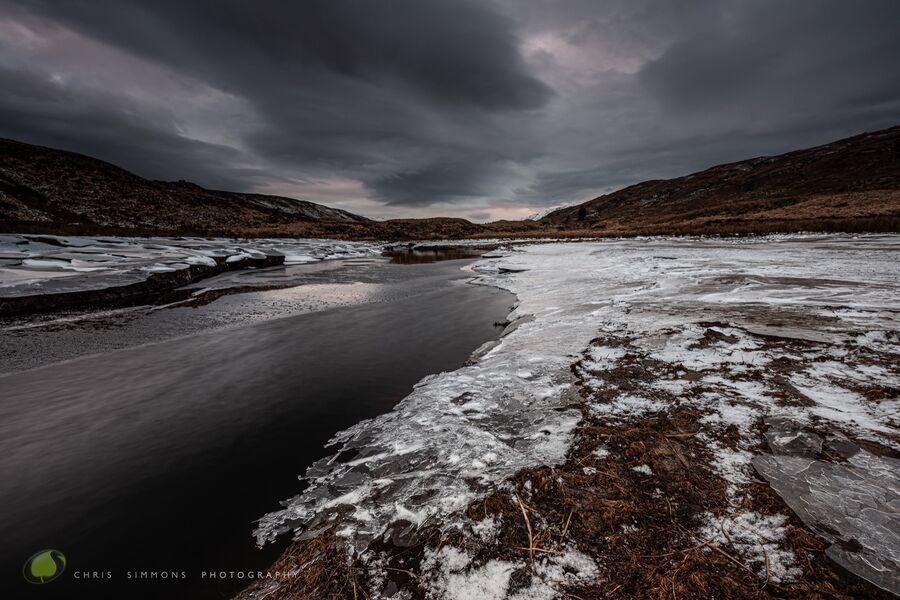 Loch Uisge Frozen Dusk