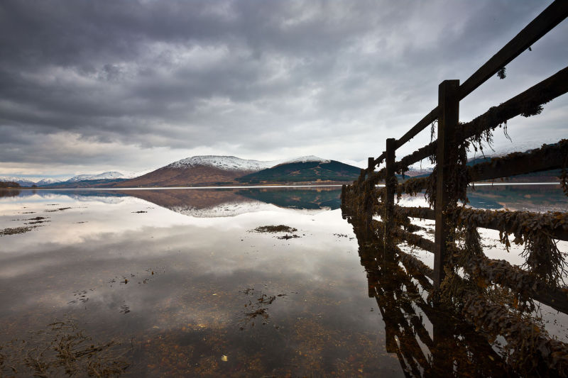 Loch, reflection, textures