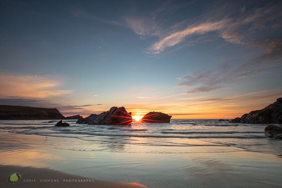 Mid-Summer Low Tide Sundown - (CCArt)