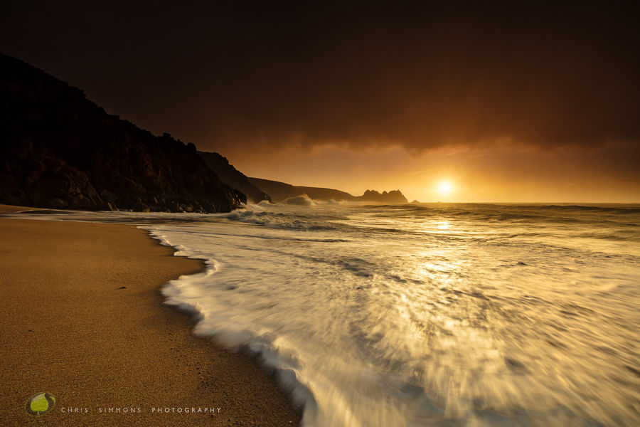 Porthcurno - Burnt Winter Dawn - rev