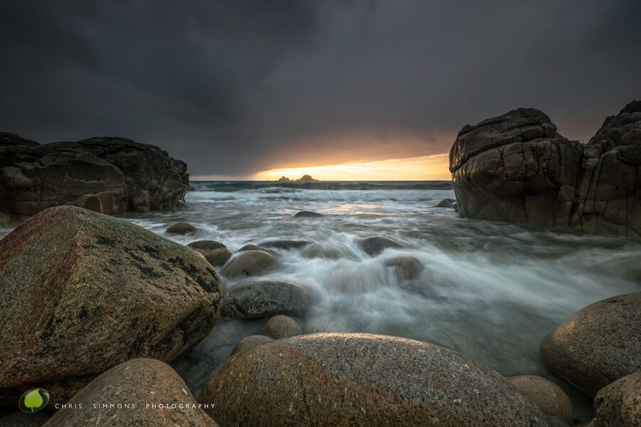 Porth Nanven Rocks & Sundown - (CCArt)