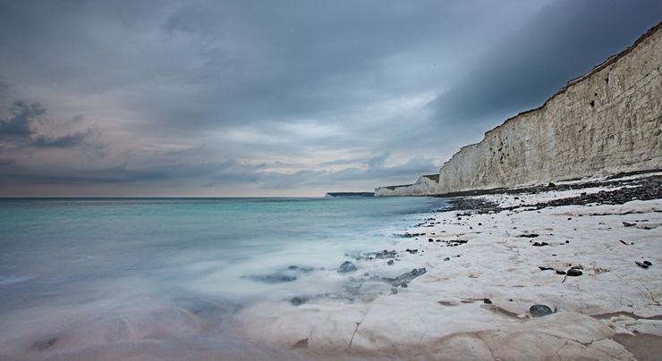 Seven Sisters cliffs in a squall