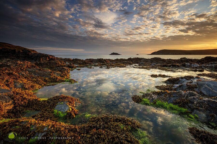 Summer Dawn Reflection - Crantock