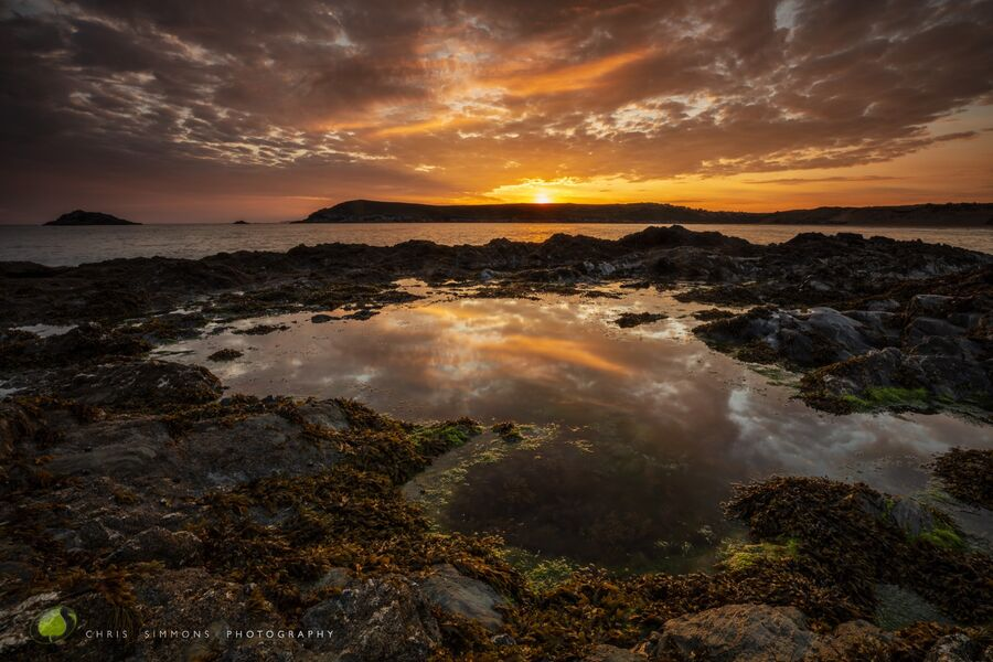 Summer Dawn Reflection II - Crantock