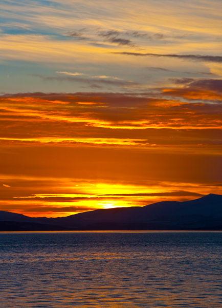 Fjord Sunset Portrait