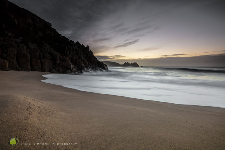 Winter Tides, Porthcurno - rev