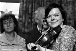 Mairead O'Donnell enjoying the tunes at Roscommon Fleadh