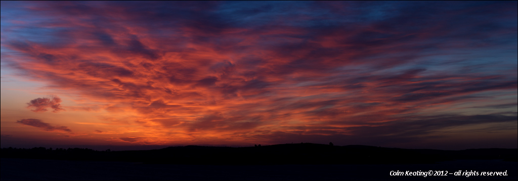 Colours immediately after sunset - above Blessington Lakes.