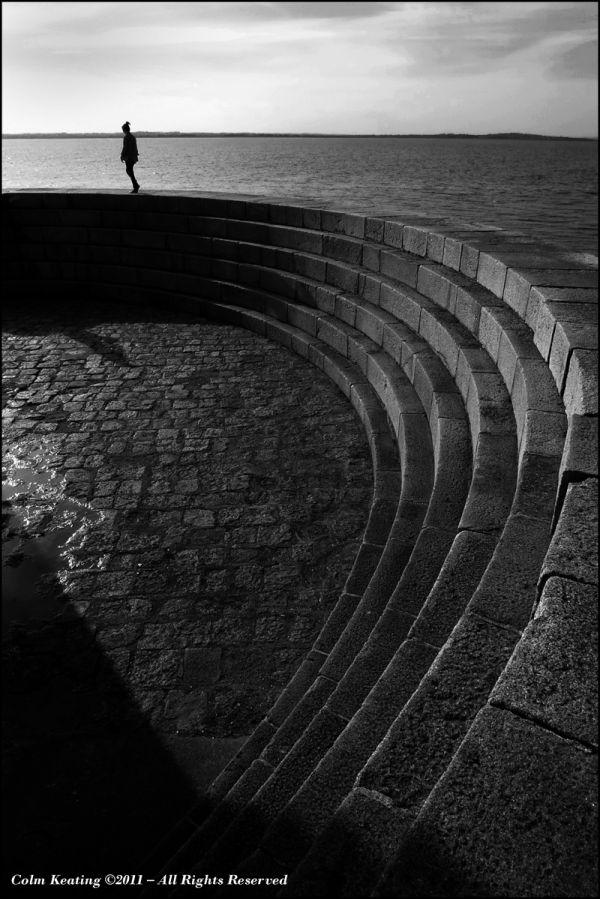 Ciana, walking Howth Pier.