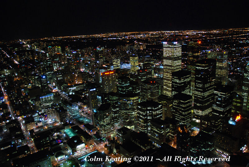 Toronto by night from CN Tower