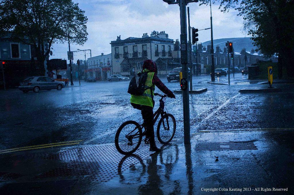 Raining on Bath Avenue...