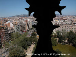 Barcelona City, from Gaudi's Sagrada Familia