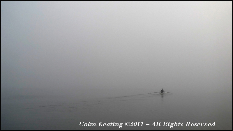 Sculling into the Fog.