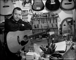 Paul Doyle, when he's not playing guitars he's repairing them...