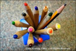 Siún's pencils...