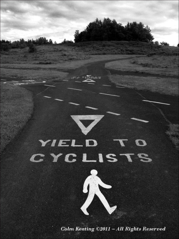 Yield to cyclists!