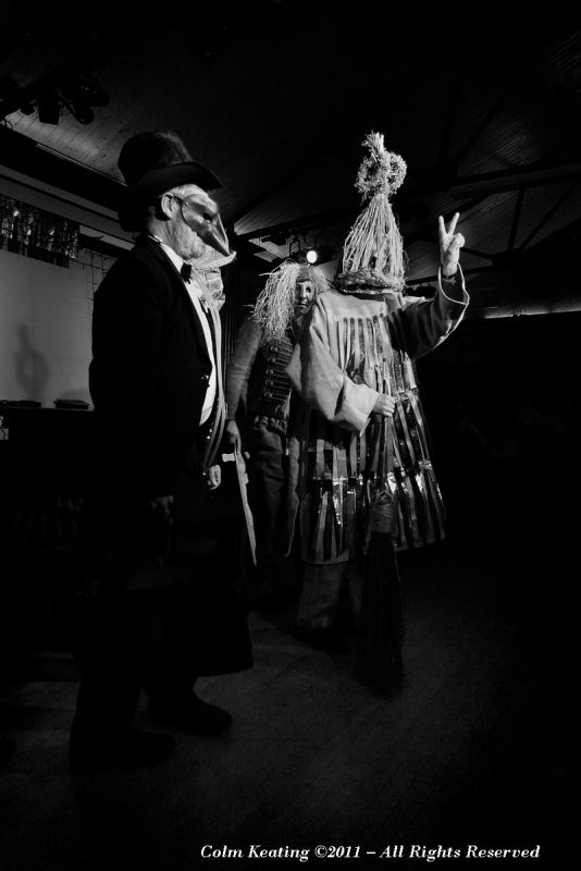 The Fingal Mummers - floor show on Pudding Night.