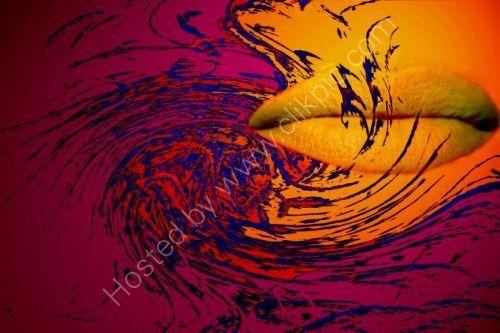 Orange Lips A Swirl