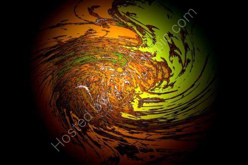 Orange Swirling