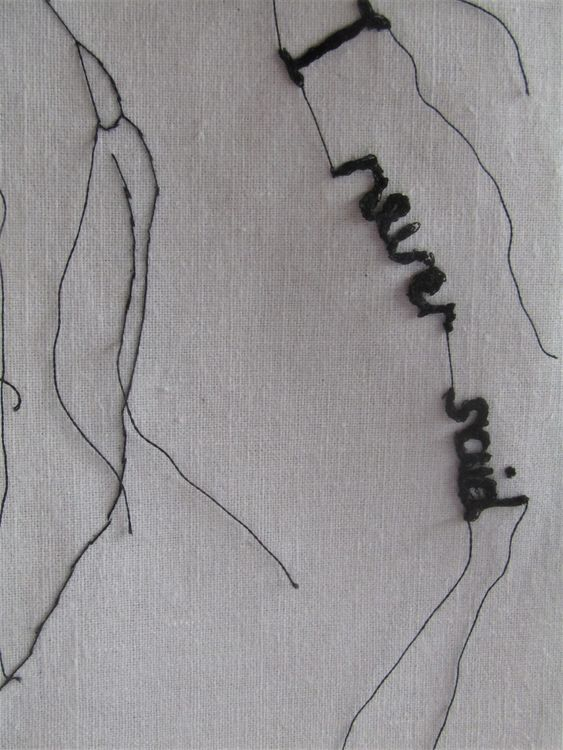 All The Words I Never Said Study (Detail 2)