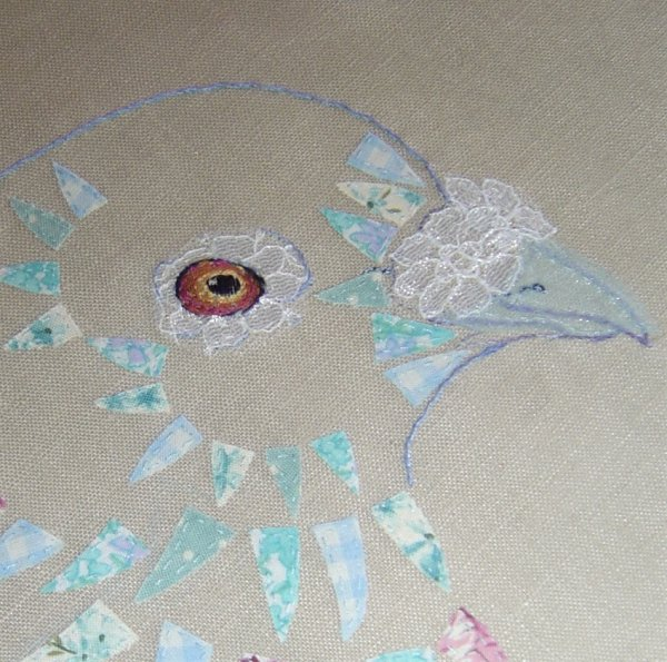 Lacy Pigeon Study (Detail)