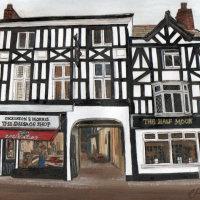 Sausage Shop and Half Moon