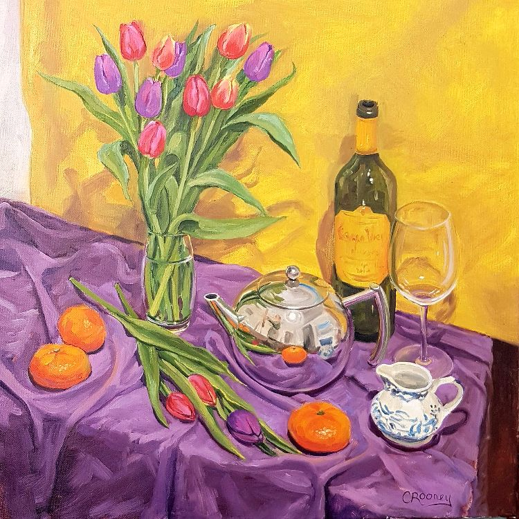 'Teapot and Tulips'