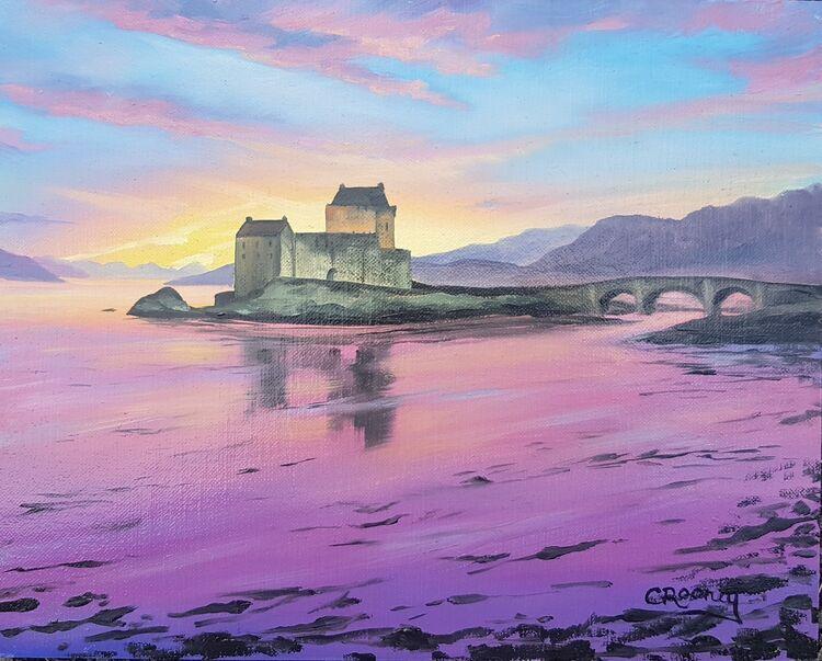 Eilean Donan at sunset