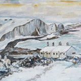 Seven Sisters at Cuckmere Haven snowy scene