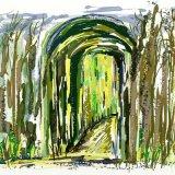 Garden door digital image print