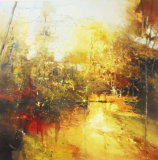 'Forest of Gold' 90x90cm