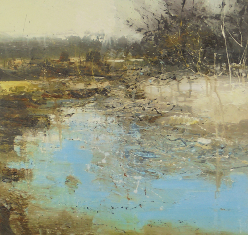 'Still Waters at Shatterford' 60x60cm