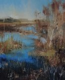 Winter at shatterford 100x80cm