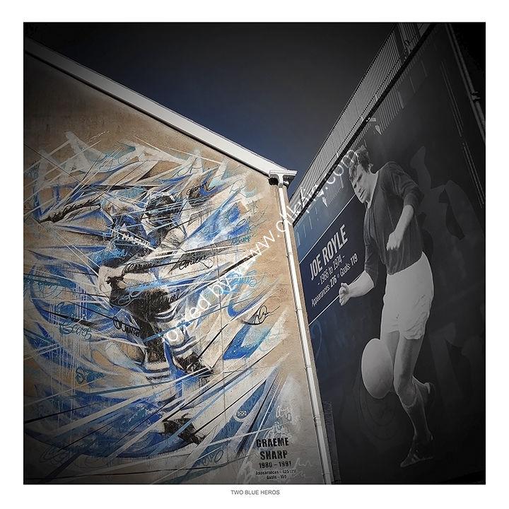 Two Blue Heros - Goodison Park, Everton FC