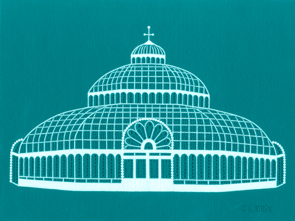 The Palm House, Liverpool (teal)