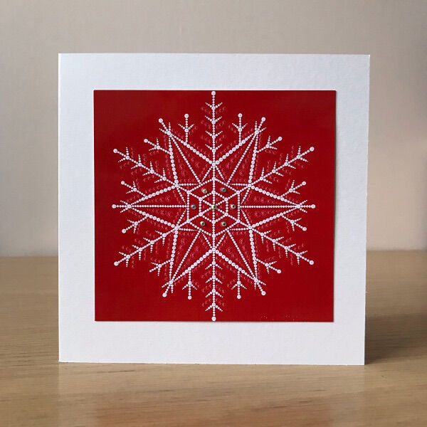 Christmas card - red snowflake