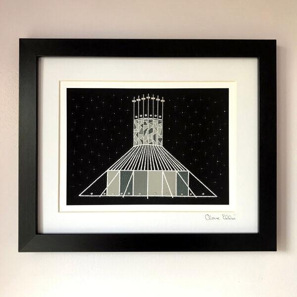 Metropolitan Cathedral, Liverpool (black/grey)