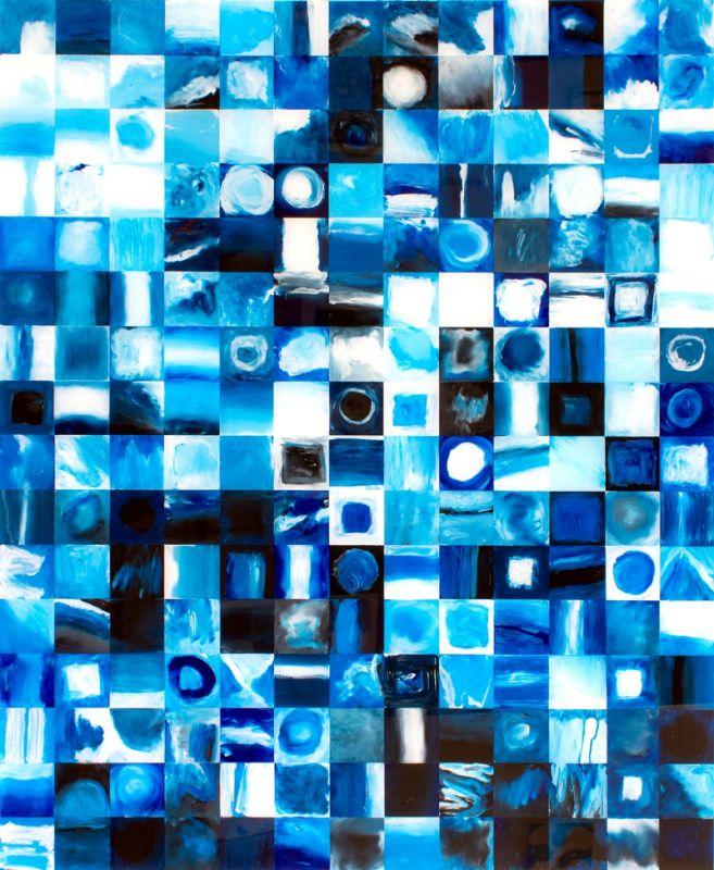 208 blue squares