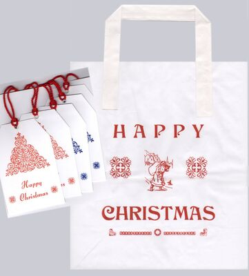 A4 Gift bag & 5 swing labels