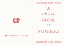 A Small Book of Numbers Bo-16-02