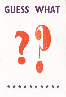 Hum-002-19 Guess What ?