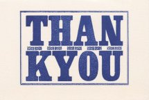 Th 005 01 Thank you woodletters